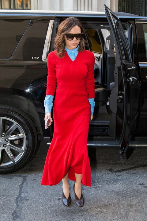 Victoria Beckham red and blue