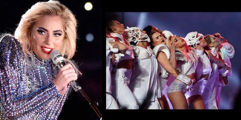 Lady Gaga beauty look al Super Bowl 2017.