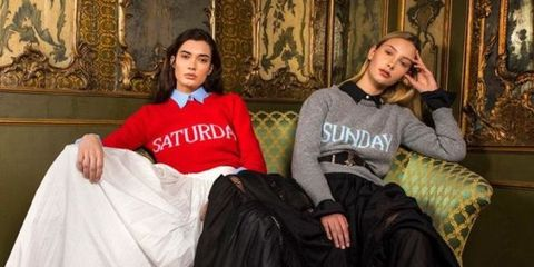 alberta ferretti maglioni rainbow week moda 2017