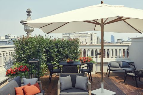 """<p><span>This one-time bank headquarters dates back to the 1870s, and its superb location facing the Galleria Vittorio Emanuele II makes it the ideal base from which to</span><span>explore the sights of Milan. The bedrooms, decorated</span><span>in a muted palette accented by chic furniture, set the</span><span>scene for a relaxing stay, while the new Spa by Sisley provides Turkish baths, holistic treatments and</span><span>a luxurious chill-out area. At the top of the hotel, the Duomo Suite has a panoramic terrace and Jacuzzi,</span><span>giving guests a taste of the high life.</span></p><p><i data-redactor-tag=""""i"""">From about £625 a room a night (<a href=""""http://www.milan.park.hyatt.com"""" target=""""_blank"""" data-tracking-id=""""recirc-text-link"""">milan.park.hyatt.com</a>).</i></p>"""