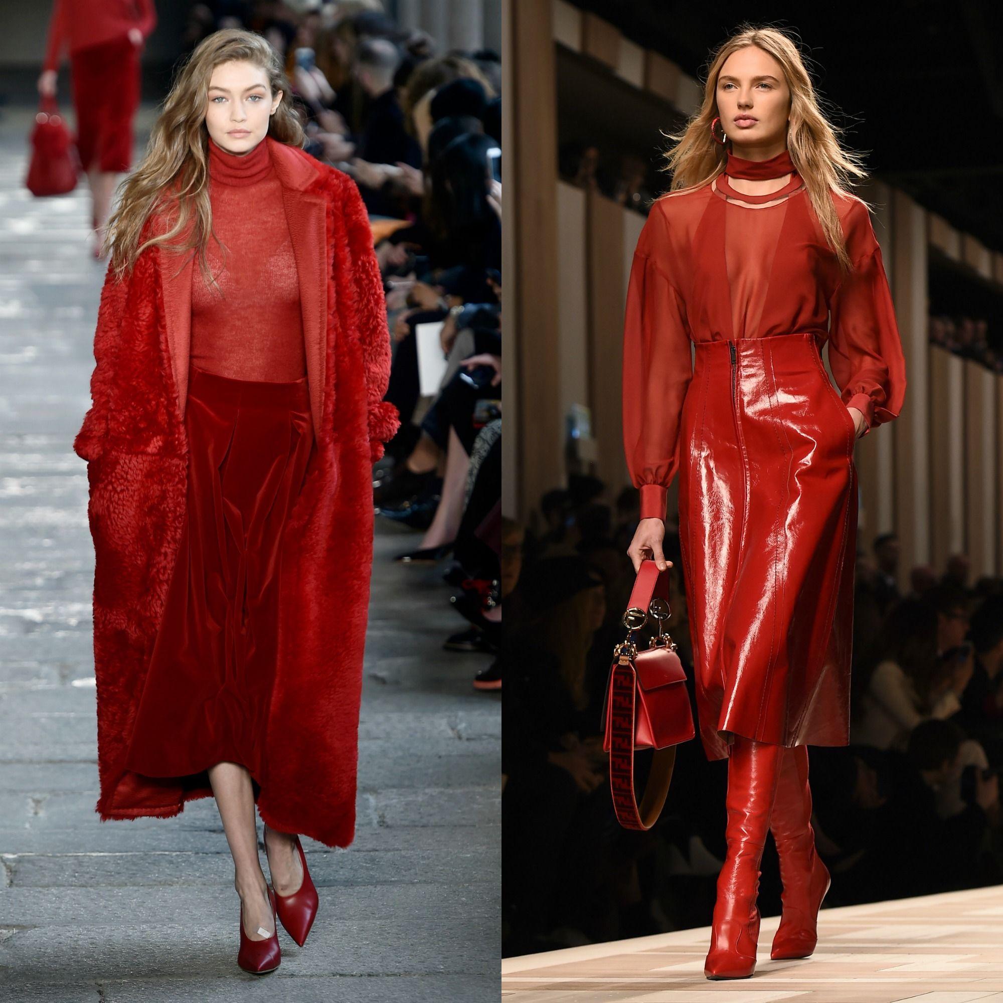 tendenze moda autunno inverno 2017 2018 rosso