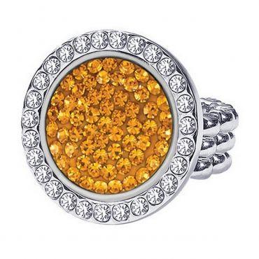 festa della donna 2017: look giallo mimosa con anello Bi-joux