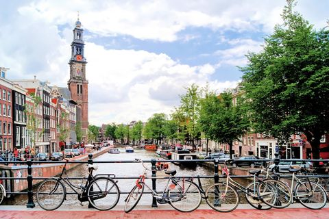 """<p>""""I absolutely adore <a href=""""http://go.spot.com/2IAl/2phPhU5oNA"""">Amsterdam</a> and here's why: It's a beautiful bite-size European city, so it is a wonderful introduction to the continent for first-timers to Europe. Filled with art, canals, cobblestones, and flowers, it has all the history of Paris and Rome, but it's not overwhelming and is very easily walkable (or bikeable). Everyone is friendly and helpful, and most people speak English, so it's easy to ask for directions or recommendations. Trains and buses are very accessible which make day trips to smaller towns convenient and fun. I once spent an afternoon at a cheese market in the town of Gouda, which was a blast."""" —<em data-redactor-tag=""""em"""">Juliana Dever of </em><em data-redactor-tag=""""em""""><a href=""""http://www.cleverdeverwherever.com/"""">Clever Dever Wherever</a></em></p><p><span class=""""redactor-invisible-space"""" data-verified=""""redactor"""" data-redactor-tag=""""span"""" data-redactor-class=""""redactor-invisible-space""""></span></p>"""