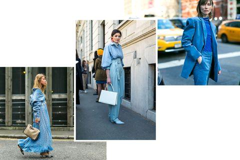 <p>Toni di azzurro stratificati, come una boccata d'aria fresca.</p>