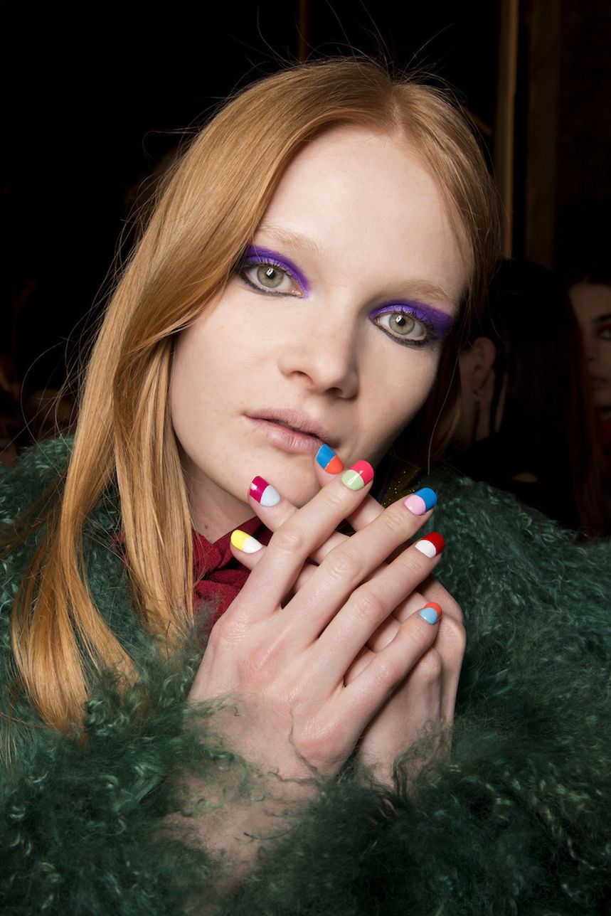 Unghie french colorate: 15 immagini di nail french