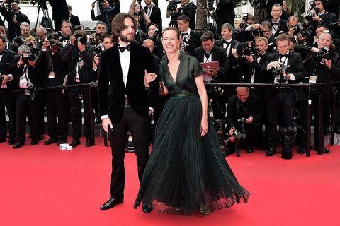 Dimitri Rassam e Carole Bouquet alla premiere di 'FoxCatcher' al Festival di Cannes 2014