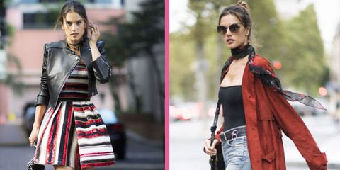 Clothing, Street fashion, Fashion, Fashion model, Outerwear, Scarf, Jacket, Jeans, Leather, Dress,