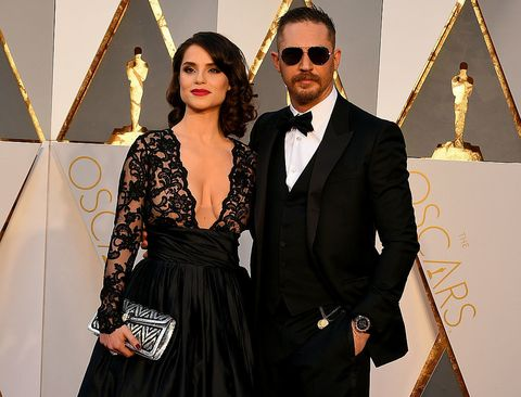 Tom Hardy e Charlotte Riley agli Oscar 2016