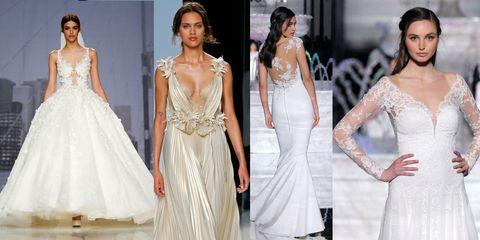 b55ffda2a130 Gli abiti da sposa della moda 2018 più belli della Barcellona Bridal  fashion week