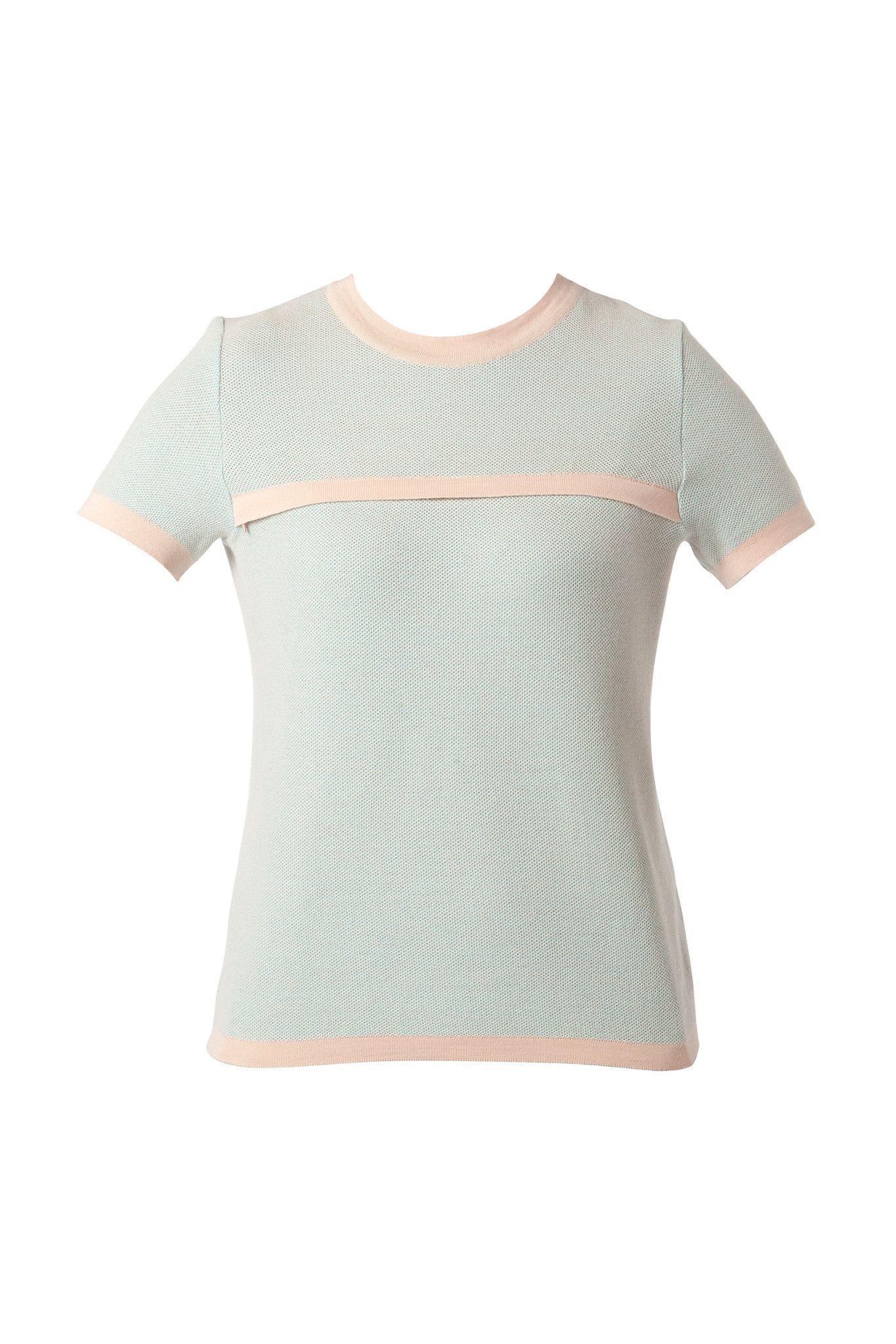Idee regalo moda 2017 per la festa della mamma come la t-shirt menta di Teat&Cosset