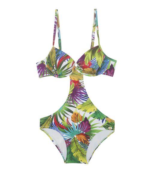 Beachwear 2017: trikini di tendenza moda mare come il modello di Promise tropical