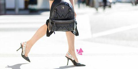 Street fashion, Black, Clothing, Fashion, Human leg, Leg, Footwear, Snapshot, Knee, Shoulder,