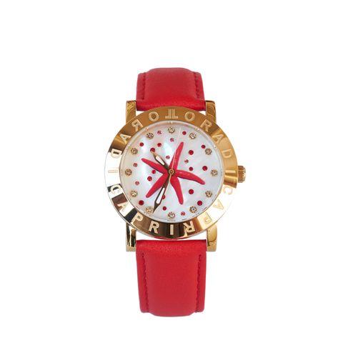 Orologi da donna con cinturini in pelle rosso come L'ora di Capri