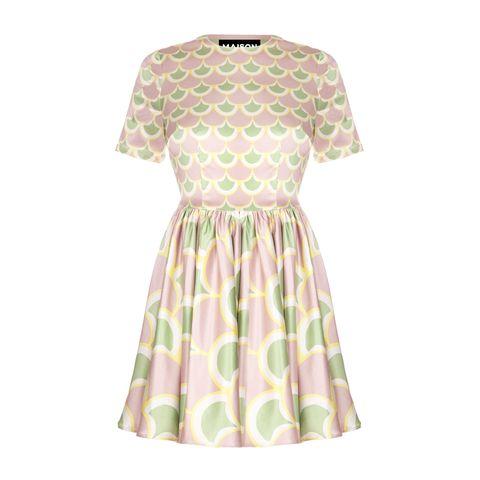 Tra i vestiti da cerimonia corti moda estate 2017 il modello color pastello di Maison about