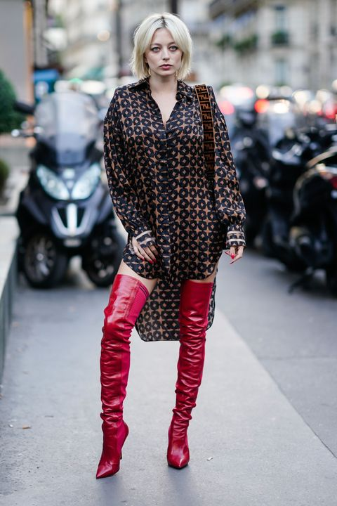 stivali rossi come indossare