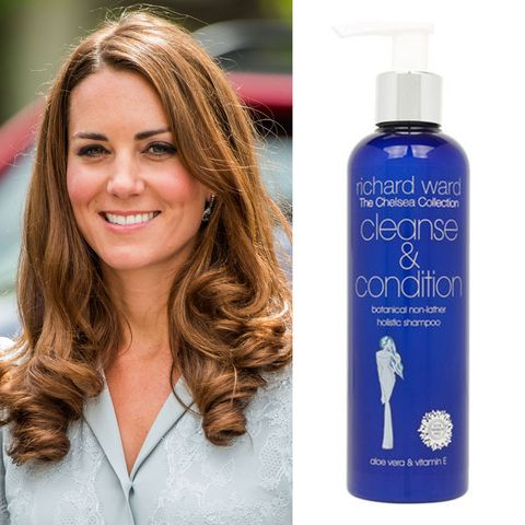 """<p>Richard Ward, Kate's hairstylist, came up with his own&nbsp;<a href=""""http://www.marieclaire.co.uk/beauty/kate-middleton-favourite-beauty-products-506975"""" target=""""_blank"""" data-tracking-id=""""recirc-text-link"""">cleanse and condition product</a>. If this is the secret to Kate's luscious locks, I'm in. ($12; <a href=""""https://www.joyus.com/beauty/catalog/1-62921/richard-ward-the-chelsea-collection-condition-and-cleanse"""" target=""""_blank"""" data-tracking-id=""""recirc-text-link"""">joyus.com</a>)</p><p><strong data-redactor-tag=""""strong"""" data-verified=""""redactor""""><a href=""""https://www.joyus.com/beauty/catalog/1-62921/richard-ward-the-chelsea-collection-condition-and-cleanse"""" target=""""_blank"""" class=""""slide-buy--button"""" data-tracking-id=""""recirc-text-link"""">BUY NOW</a></strong></p><p><strong data-verified=""""redactor"""" data-redactor-tag=""""strong"""">RELATED:&nbsp;<a href=""""http://www.redbookmag.com/beauty/hair/tips/a21922/shiny-hair-hacks/"""" target=""""_blank"""" data-tracking-id=""""recirc-text-link"""">9 Hair Hacks That'll Finally Make Your Hair Shinier Than Ever</a><span class=""""redactor-invisible-space""""><a href=""""http://www.redbookmag.com/beauty/hair/tips/a21922/shiny-hair-hacks/""""></a></span></strong><br></p>"""