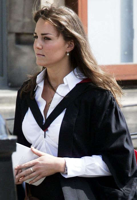<p>Kate owns a truly stunning Victorian eternity band made from garnets (her birthstone) and pearls (the birthstone of Prince William). She's been wearing the ring on and off since the early days of their courtship, and lore (read: royal-obsessed blogs) says it was purchased by HRH.&nbsp&#x3B;</p>