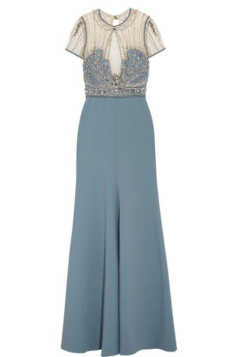 eab1a035f9de abiti lunghi da cerimonia di sera eleganti come il vestito anni 30 in  celeste di Jenny