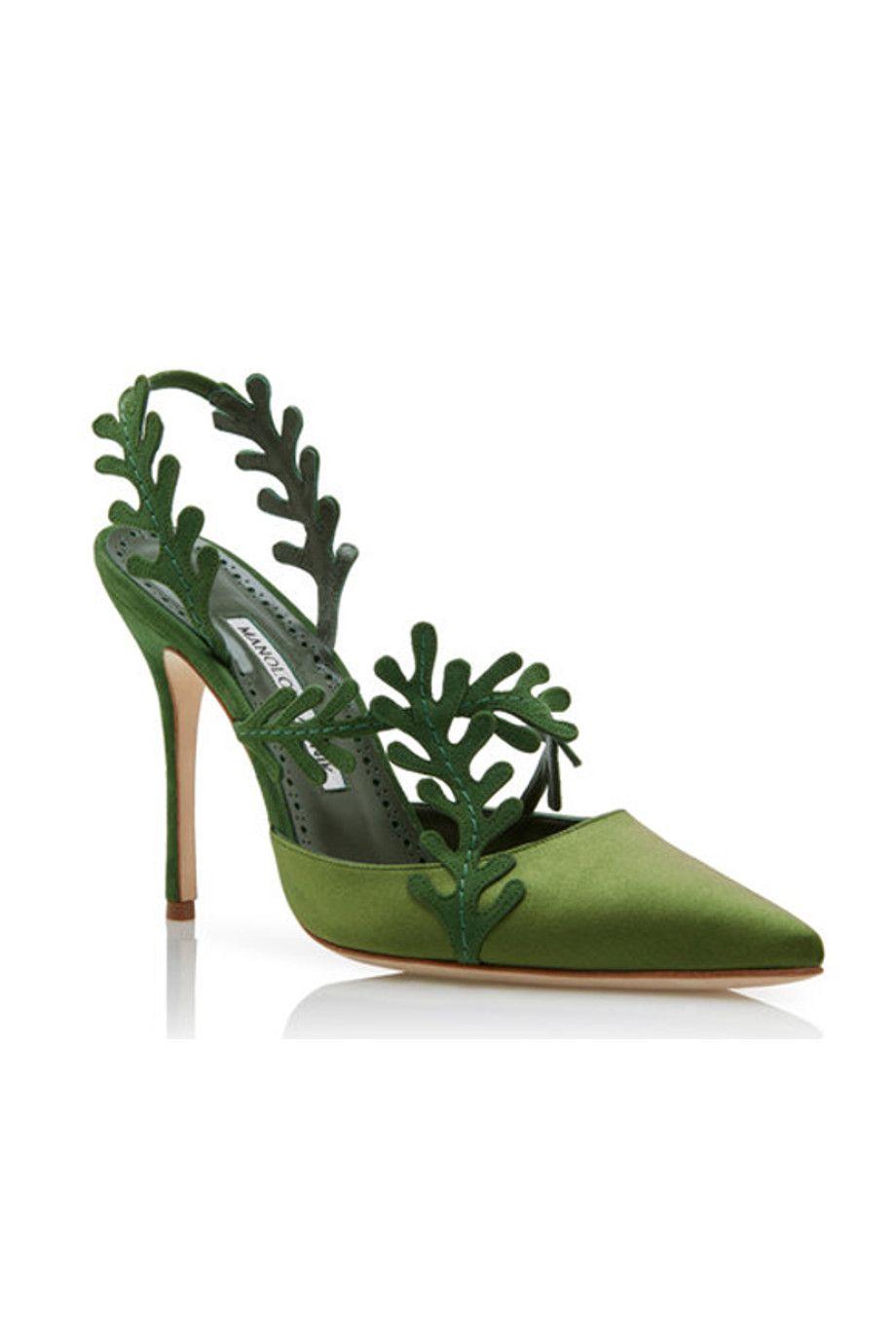 Tacchi alti da cerimonia come le scarpe verdi di Manolo Blahnik