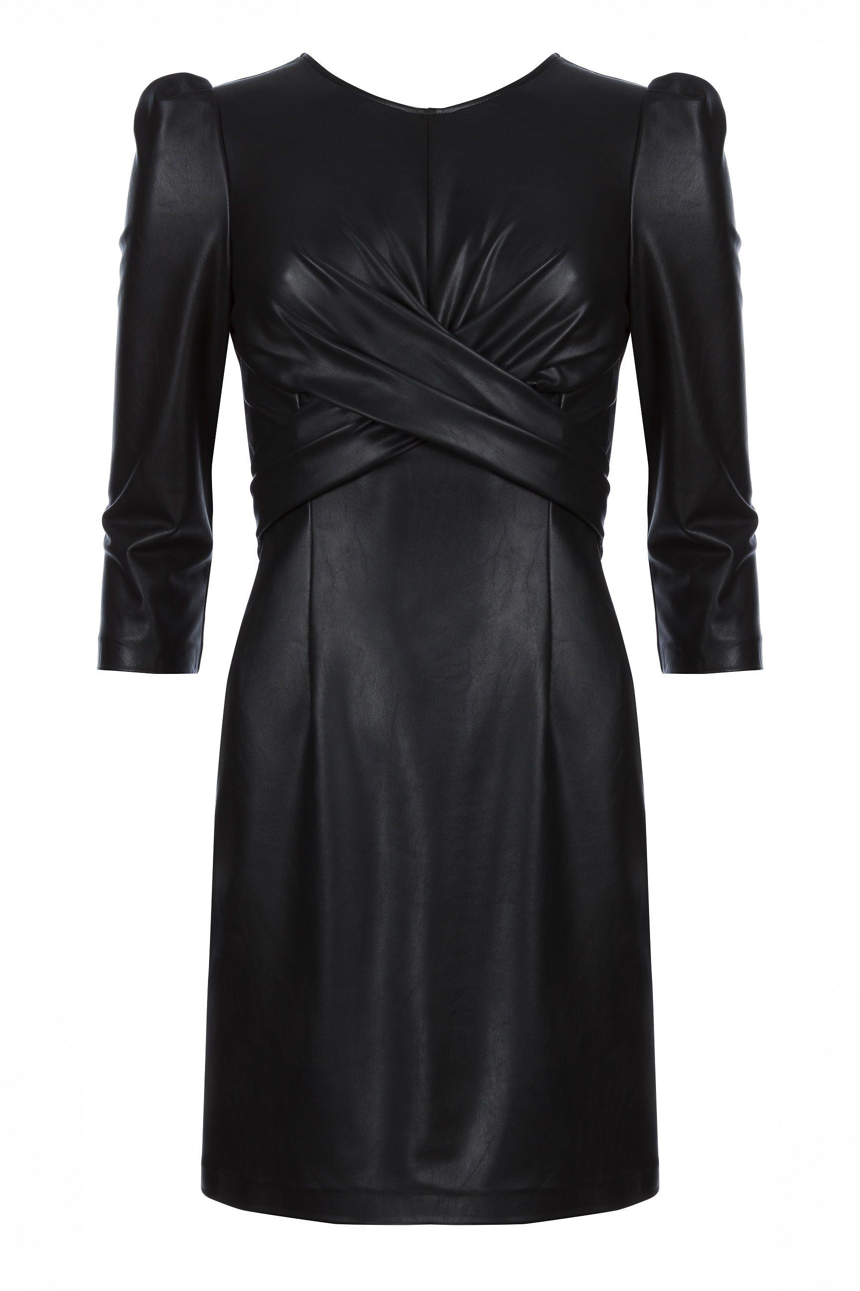 Tubino nero moda 2018 in ecopelle di Annarita N