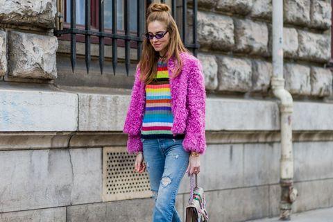 maglione a righe inverno