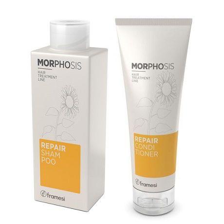 <p><span>Il pack Morphosis Repair Shampoo &amp; Conditioner di&nbsp;Framesi, offre detersione e nutrimento con le formule shampoo e balsamo ricche di ceramidi, proteine della mandorla e olio di girasole.</span><br></p><p></p>