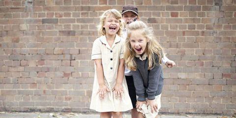 Photograph, People, Clothing, Street fashion, Fashion, Snapshot, Blond, Footwear, Outerwear, Child,