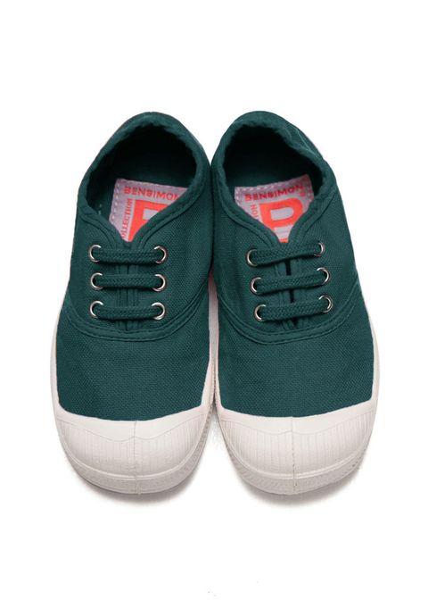 Sneakers bambino in verde di Bensimon