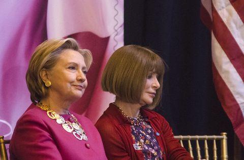 Hillary Clinton con Anna Wintour