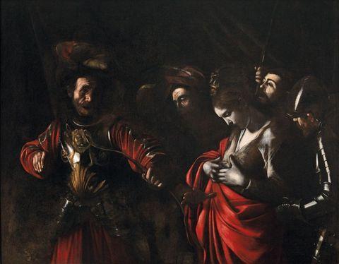 Michelangelo Merisi da Caravaggio Martirio di Sant'Orsola, 1610 Olio su tela, 143 x 180 cm Napoli, Collezione Intesa Sanpaolo, Gallerie d'Italia - Palazzo Zevallos Stigliano