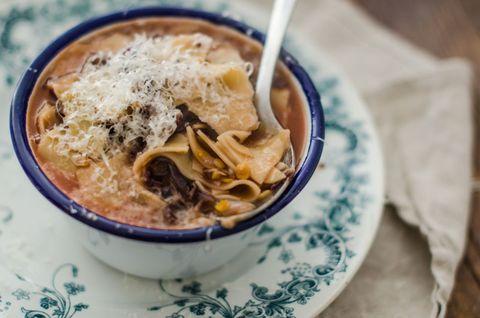 Zuppa di maltagliati e lenticchie