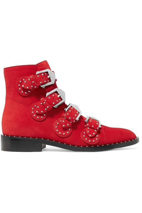stivaletti rossi moda 2018 Givenchy