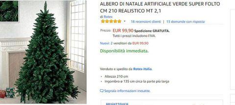 """<p>Un albero di Natale alto più di 2 metri??? Sì, e che meraviglia!</p><p><a href=""""http://amzn.to/2jzGU7e"""" data-tracking-id=""""recirc-text-link"""">Clicca qui per acquistare</a></p>"""