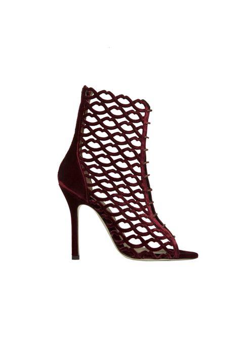scarpe alte rosse moda 2018 come il tronchetto di Giannico