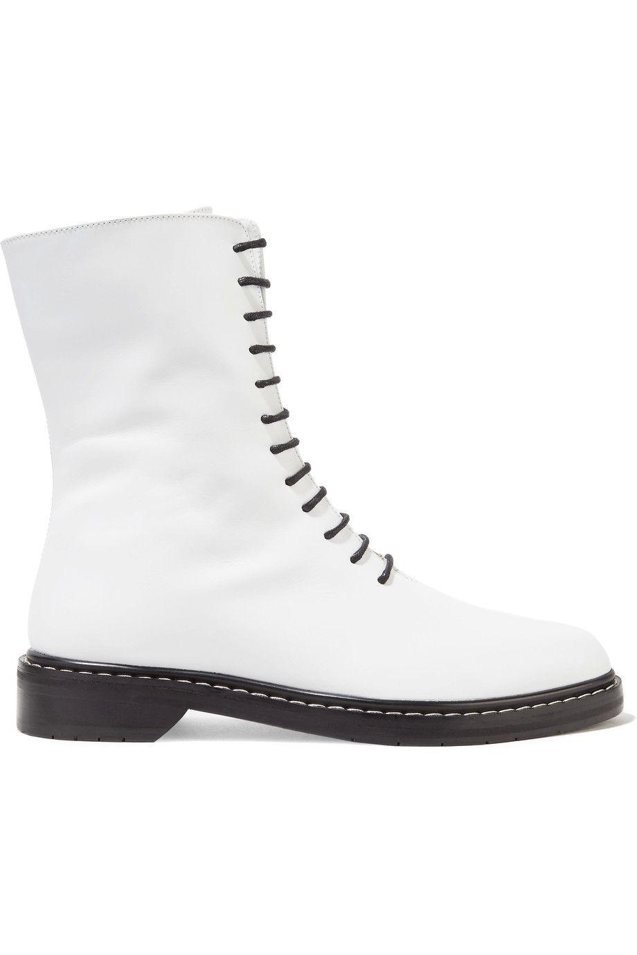 scarpe bianche moda 2018 come l'anfibio The row