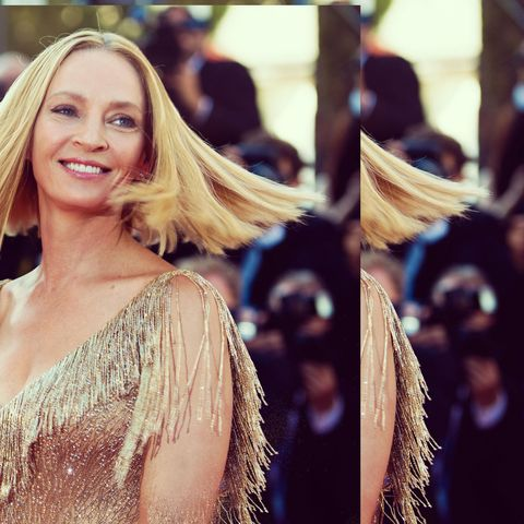 Hair, Face, Blond, Shoulder, Facial expression, Hairstyle, Beauty, Long hair, Skin, Eyebrow,