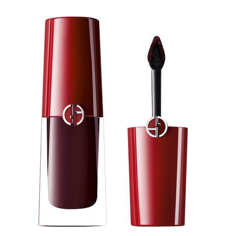 Red, Lipstick, Cosmetics, Beauty, Maroon, Material property, Gloss, Lip gloss,