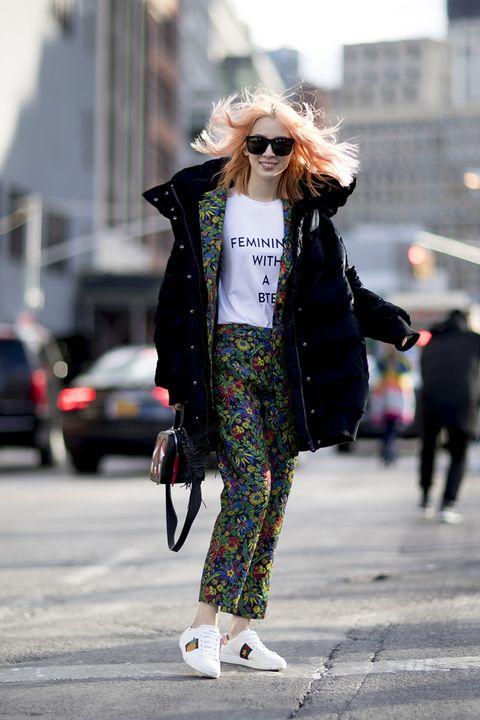 Street fashion, Clothing, White, Photograph, Fashion, Snapshot, Sunglasses, Eyewear, Outerwear, Street,
