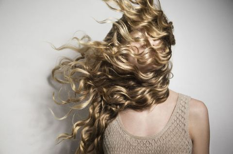 Hair, Blond, Hairstyle, Ringlet, Long hair, Hair coloring, Beauty, Brown hair, Layered hair, Artificial hair integrations,