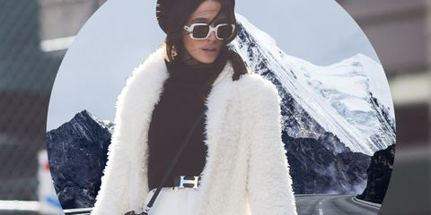 Eyewear, White, Sunglasses, Clothing, Street fashion, Fur, Fashion, Outerwear, Glasses, Cool,