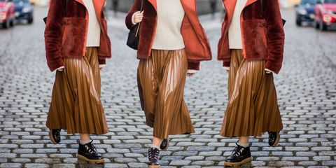 Clothing, Outerwear, Fashion, Leather, Textile, Beige, Fur, Coat,