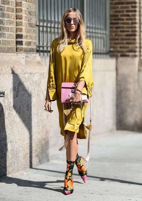 look in giallo moda 2018 per le bionde