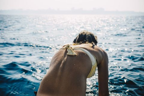 People in nature, Water, Sea, Ocean, Summer, Leisure, Sky, Sunlight, Back, Photography,