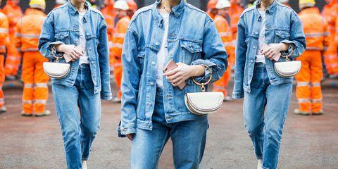 Come indossare il giubbotto di jeans questa primavera estate 2018 ... f6653a55a2d