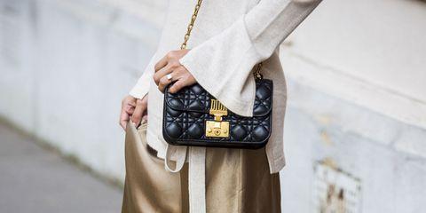 White, Street fashion, Clothing, Fashion, Footwear, Shoulder, Snapshot, Brown, Dress, Leg,