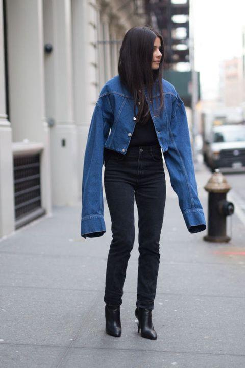 come indossare giubbotto jeans primavera