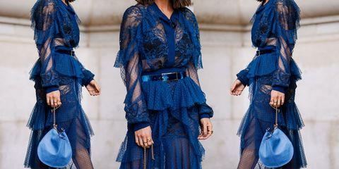 Denim, Jeans, Blue, Clothing, Fashion, Cobalt blue, Textile, Street fashion, Dress, Electric blue,
