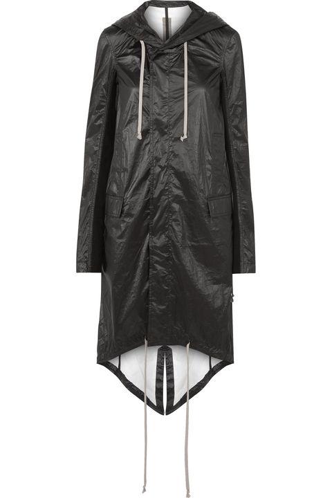 Clothing, Outerwear, Sleeve, Jacket, Coat, Hood, Leather, Leather jacket, Raincoat, Dress,