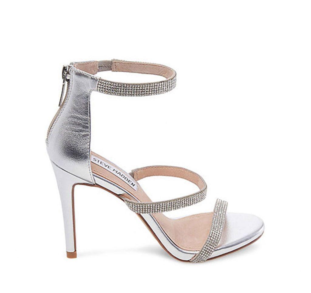 Sandali gioiello argento, moda estate 2018