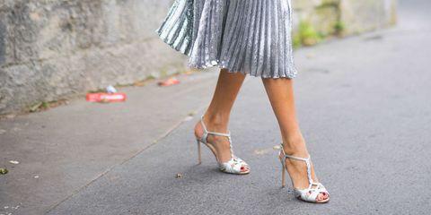 White, Clothing, Street fashion, Dress, Human leg, Leg, Footwear, Fashion, Waist, Shoulder,